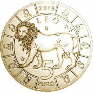 5 евро, Сан-Марино, 2019, Лев, Серия Знаки Зодиака