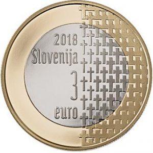 3 евро, Словения, 2018, 100 лет окончанию 1-й мировой войны
