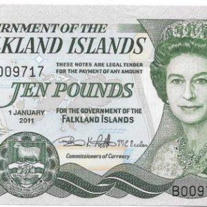 10 фунтов, Фолклендские острова, 2011